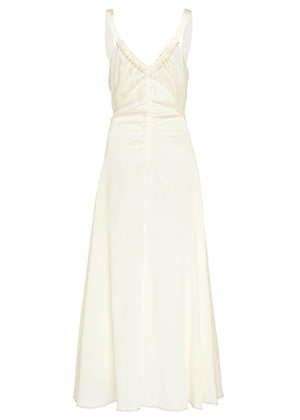 Toni dress - hammered silk ivory