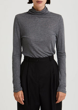 House of Dagmar -Remi Turtleneck - dark grey melange