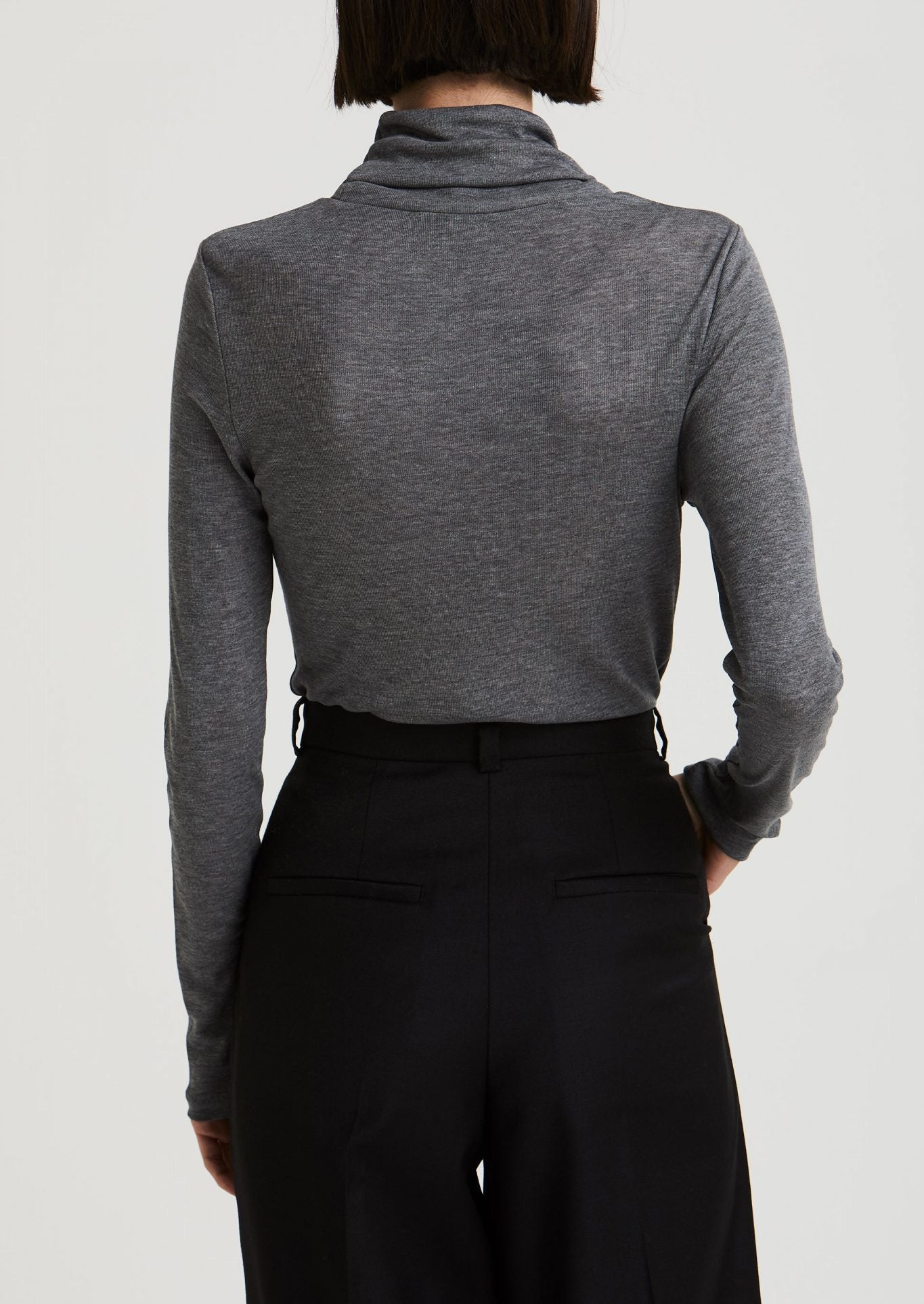 House of Dagmar -Remi Turtleneck - dark grey melange  Edit alt text