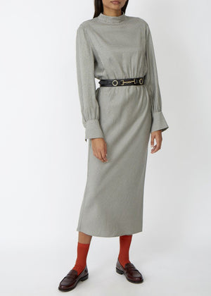 ROSEANNA - Rizolli Dress - Geometric print olive