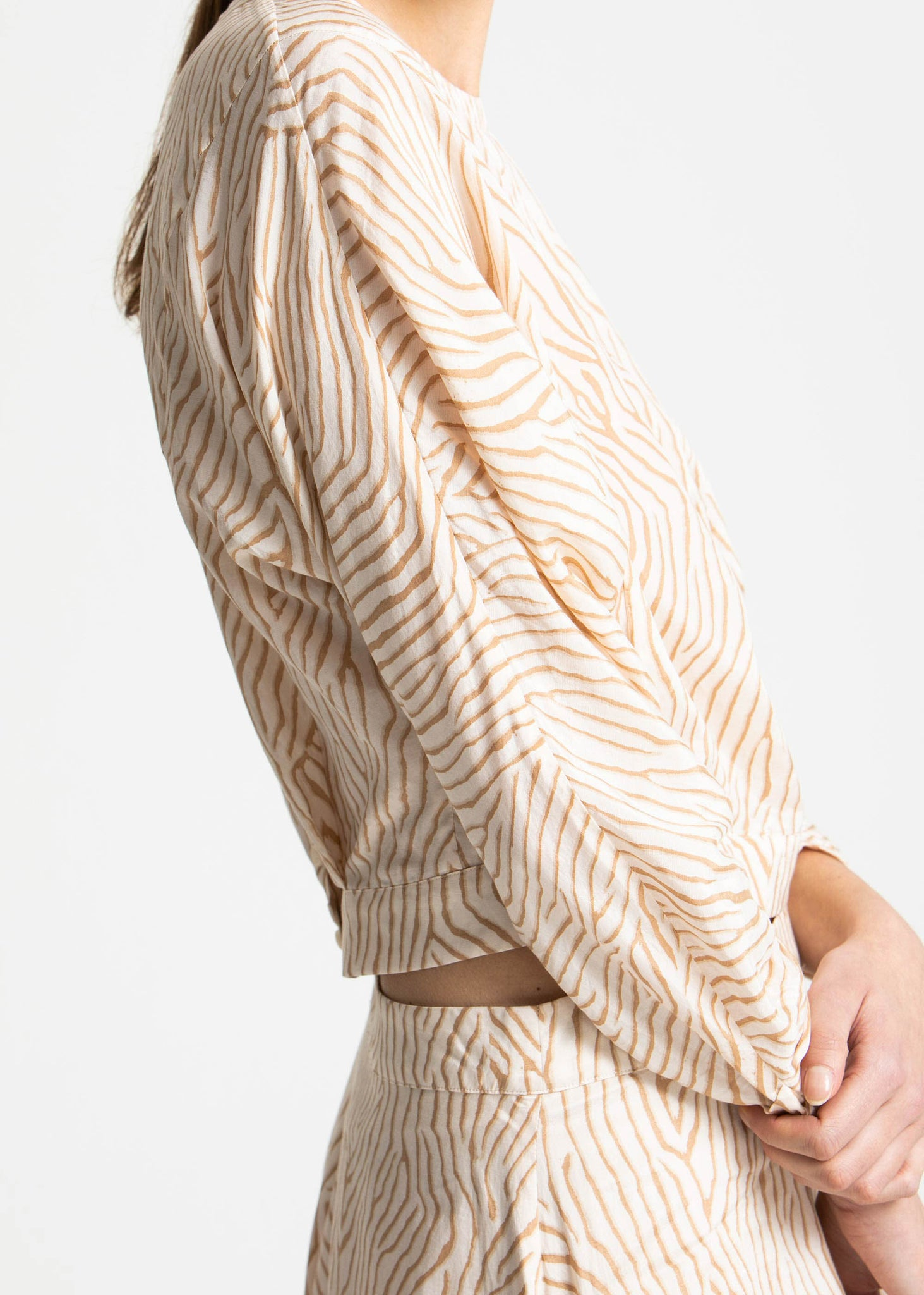 House of Dagmar - Sigrid top - sand print