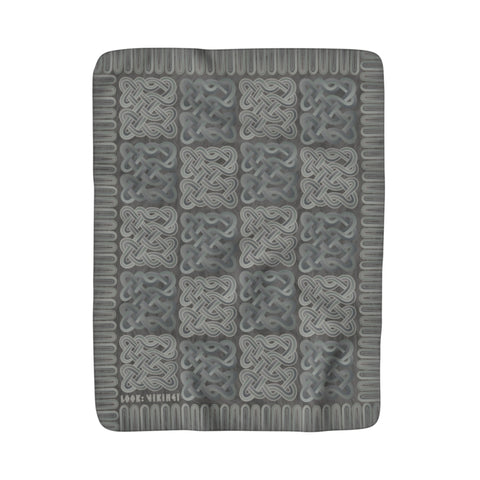 Viking Borre Multiknot Grey Sherpa Fleece Blanket