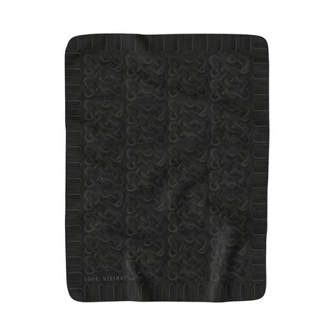 Viking Borre Multiknot Black Sherpa Fleece Blanket