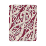 Viking Broa Style Pink Red Sherpa Fleece Blanket