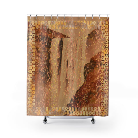 Floki's Waterfall Shower Curtain - Brown