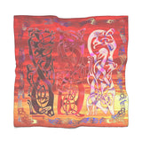 Blood-Red Sunset Over Kattegat Broa 1 Poly Scarf (2 Sizes-2 fabrics)