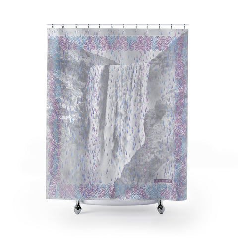 Floki's Waterfall Shower Curtain - Light Violet