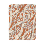 Viking Broa Style Dusty Orange Sherpa Fleece Blanket