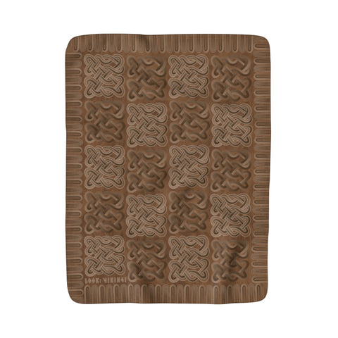 Viking Borre Multiknot Brown Sherpa Fleece Blanket