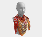 Blood-Red Sunset Over Kattegat Broa 1 Silk-like Poly Scarf (4 sizes-3 fabrics)