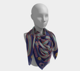 Viking Winter Blue Jellinge 1 Silk-like Poly Scarf (4 sizes-3 fabrics)