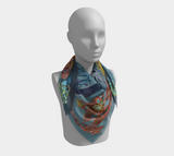 First Live Stream Design Broa 1 Silk-like Poly Scarf (4 sizes-3 fabrics)