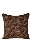 Viking Knot Dark Brown Faux Suede Square Pillow