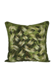 Viking Knot Green Faux Suede Square Pillow Case