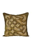 Viking Knot Golden Brown Faux Suede Square Pillow Case