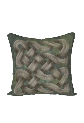 Viking Knot Grey Faux Suede Square Pillow Case