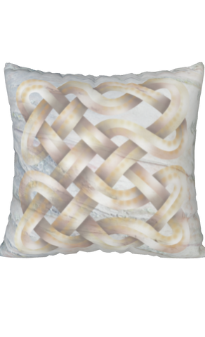 Viking Knot White Spun Polyester Square Pillow Case