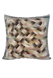 Viking Knot Beige Faux Suede Square Pillow