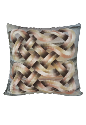 Viking Knot Beige Faux Suede Square Pillow Case