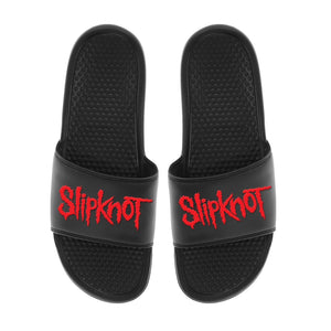Slipknot Logo - Unisex Black Slides