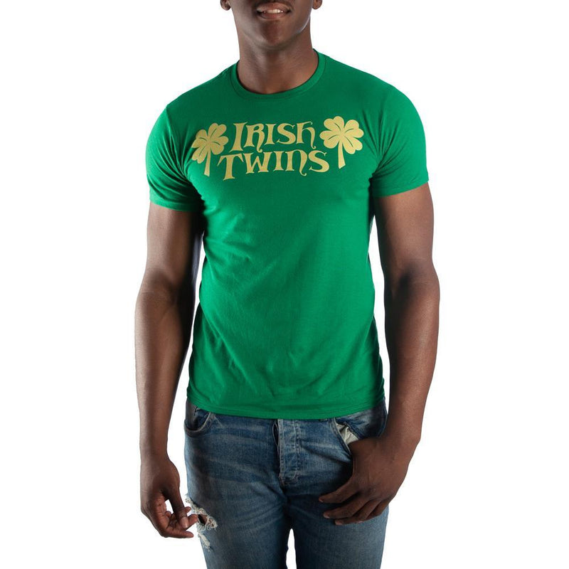 Irish Twins Men's Green T-Shirt Tee Shirt