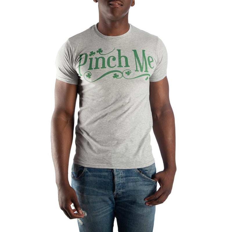 Pinch Me Shamrock Men's Gray T-Shirt Tee Shirt