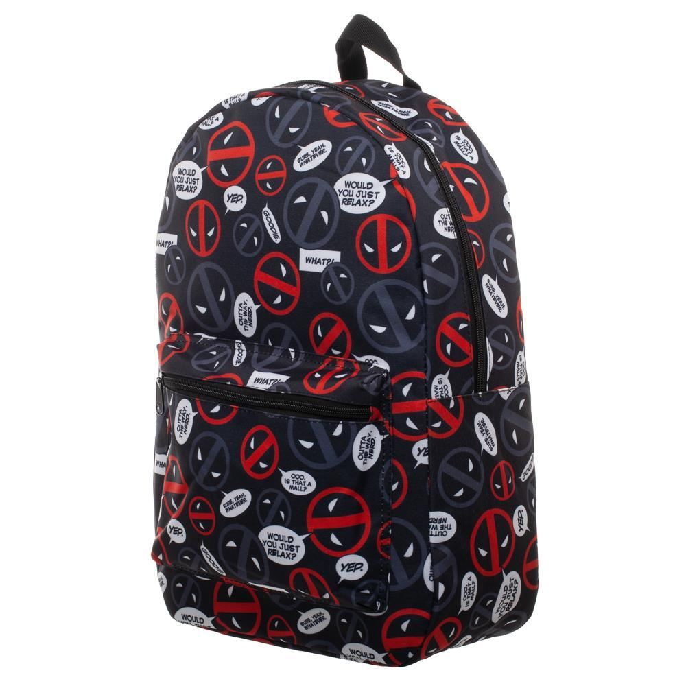 Marvel Deadpool Bag Sublimated Backpack - Deadpool Backpack Great Deadpool Gift