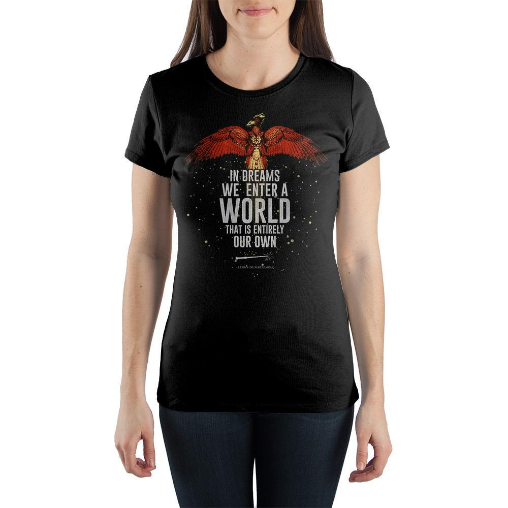 J.K. Rowling Harry Potter Quote Women's Black T-Shirt Tee Shirt