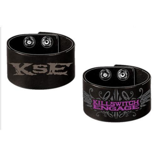 Killswitch Engage Logo Leather - Unisex Wristband