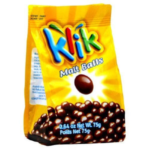 Klik Chocolate Covered Malt Balls (12x2.64 Oz)