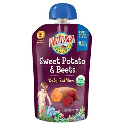 Earth's Best Baby Foods Puree Swtpot/Beet (12x3.5OZ )