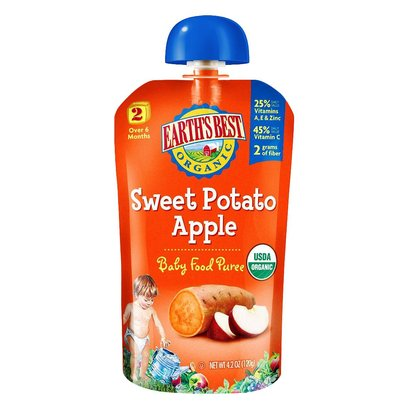 Earth's Best Baby Foods Puree Sweet Potato Apple (12x4OZ )