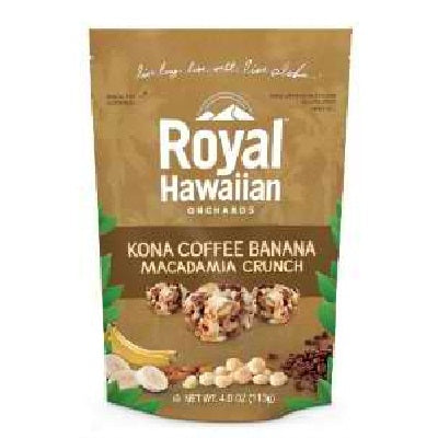 Royal Hawaiian Orchards Fruit Nut Kna Coffee Ban (6x4OZ )