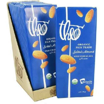 Theo Chocolate Mk Chocolate Slt Almond (12x3OZ )