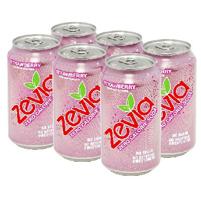 Zevia Nat Straw Soda (4x6Pack )