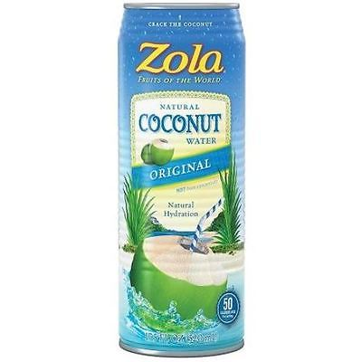 Zola Brazilian Fruits 100% Nat Coconut Water (12x17.5OZ )