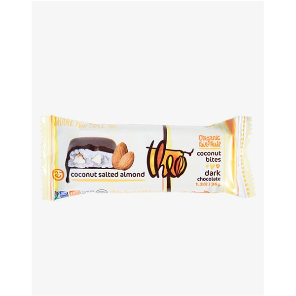 Theo Chocolate Organic Coconut Salted Almond Bites (12x1.3 OZ)
