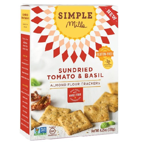 Simple Mills Sun-Dried Tomato & Basil Crackers (6X4.25 OZ)