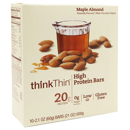 ThinkThin Bar Maple Almond  (10x2.1 OZ)