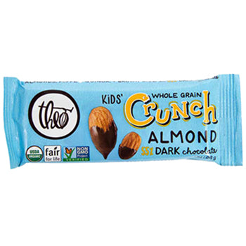Theo Chocolate Kids' Crunch Dark Chocolate Almond (12x1 OZ)