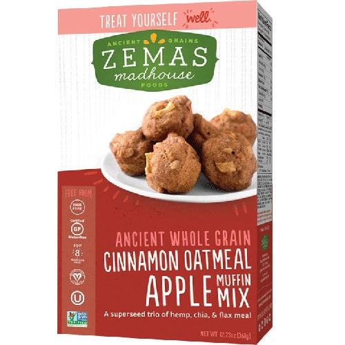 Zema's Madhouse Foods Muffin Mix Cinnamon Oatmeal Apple (6x12.73 OZ)