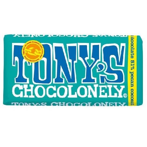 Tony's Chocolonely Dark Chocolate Pecan Coconut (15x6 OZ)