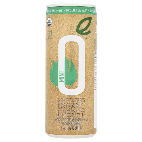 Scheckters Organic Energy Green Tea Mint (12X8.4 OZ)