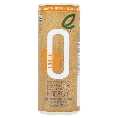 Scheckters Organic Energy Green Tea Ginger (12X8.4 OZ)