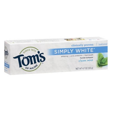 Tom's of Maine Clean Mint Whitening Fluoride Toothpaste (24x3 OZ)