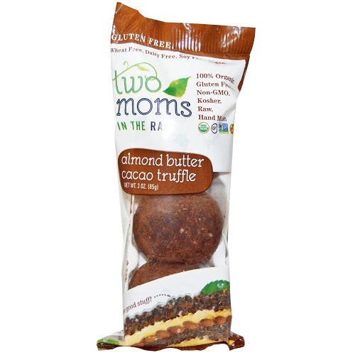 Two Moms in the Raw  Cacao Almond Nut Butter Truffles (6x2 OZ)