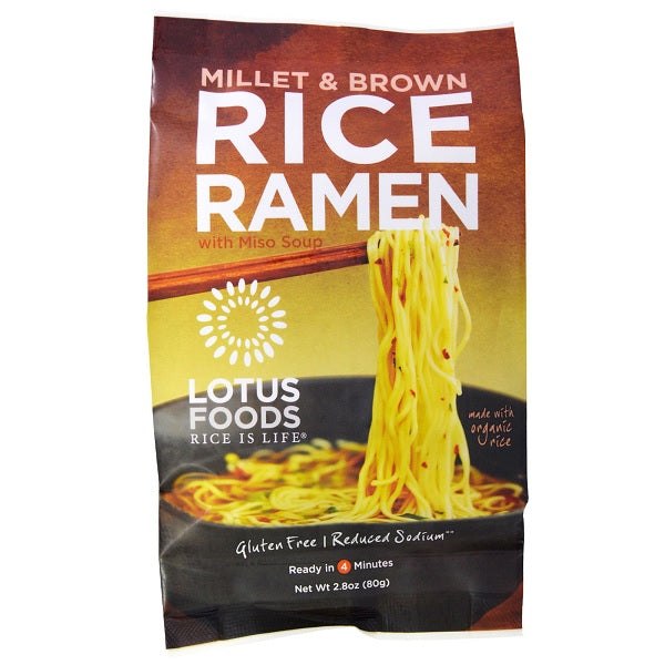 Lotus Foods Organic Rice Ramen With Miso Soup (10x2.8 OZ)