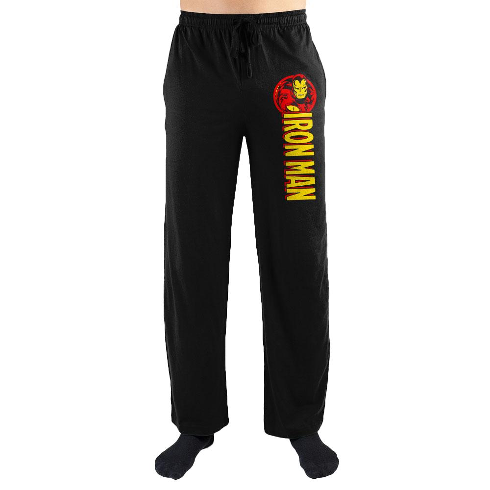 Marvel Comics Iron Man Print Men's Sleepwear Sleep Lounge Pants Gift