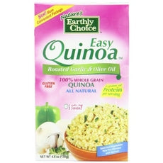 Nature's Earthly Choice All Natural Easy Quinoa, Roasted Garlic And Olive Oil (6x4.8Oz)