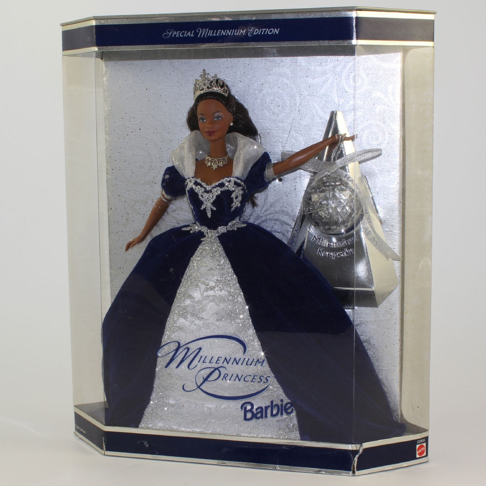 Mattel - Barbie Doll - 1999 Millennium Princess Barbie (African American) Mint